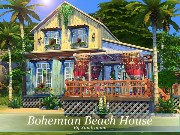 Sims 4 Bohemian Beach House by Xandralynn at TSR