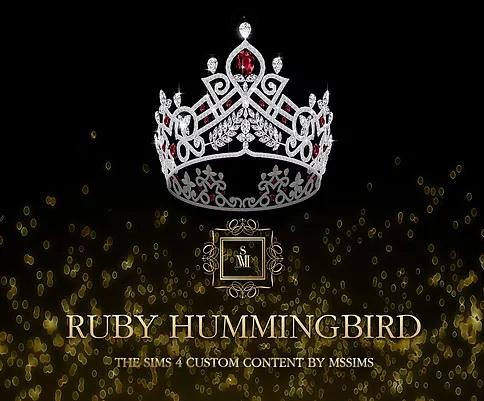 Sims 4 RUBY HUMMINGBIRD CROWN at MSSIMS