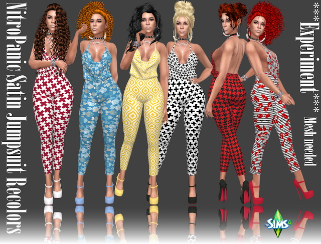 NitroPanic Satin Jumpsuit Recolors at Annett's Sims 4 Welt image 1176 Sims 4 Updates