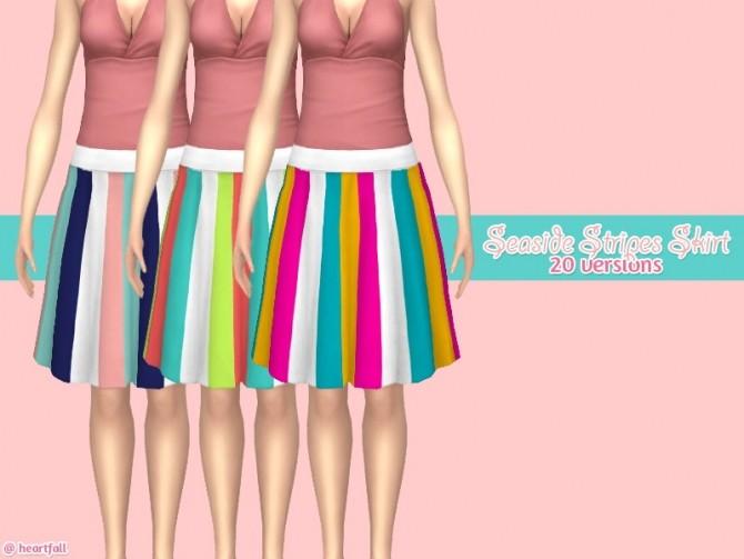 Sims 4 Seaside stripes skirt at Heartfall