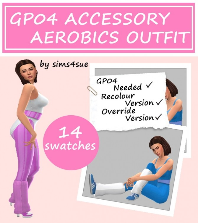 GP04 ACCESSORY AEROBIC OUTFIT at Sims4Sue image 119 670x754 Sims 4 Updates