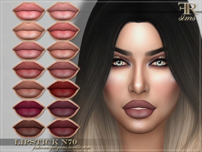 Lipstick N70 by FashionRoyaltySims at TSR image 1190 670x503 Sims 4 Updates