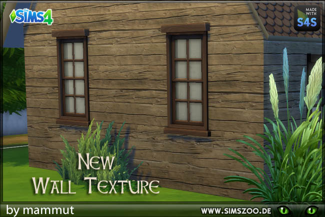 Sims 4 Wood Shabby 2 wall by mammut at Blacky's Sims Zoo