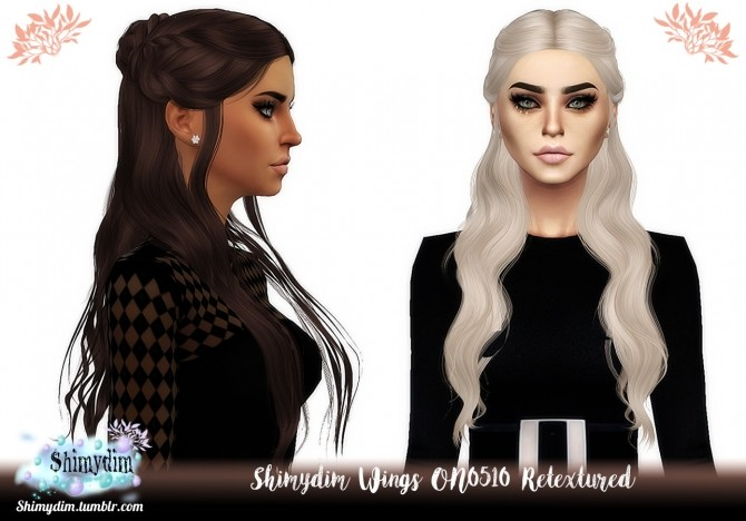 Sims 4 S4 Wings ON0510 Hair Retexture Naturals + Unnaturals at Shimydim Sims