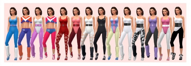 GP04 ACCESSORY AEROBIC OUTFIT at Sims4Sue image 120 670x232 Sims 4 Updates