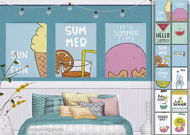 Sims 4 Summer Posters at Lorelea
