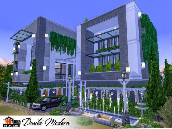 Sims 4 Dusita Modern house by autaki at TSR