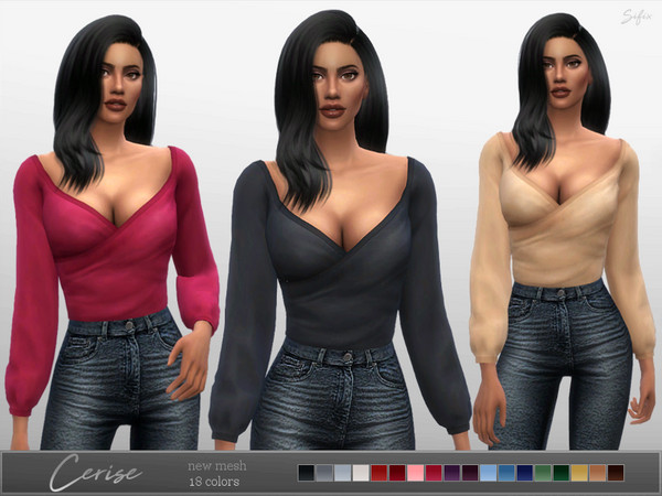 Sims 4 Cerise Blouse by Sifix at TSR