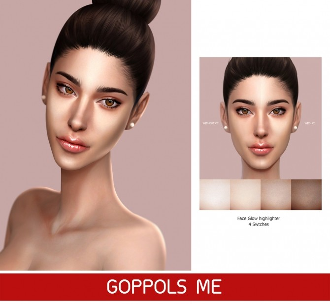 Sims 4 GPME Face Glow highlighter at GOPPOLS Me