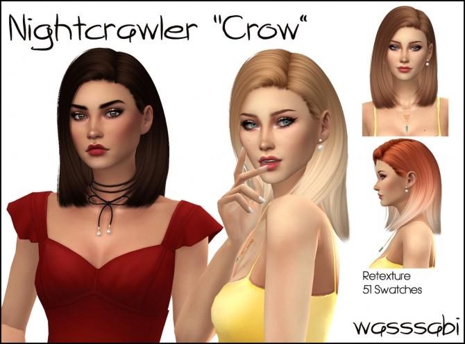 Sims 4 Nightcrawler Crow hair retexture at Wasssabi Sims