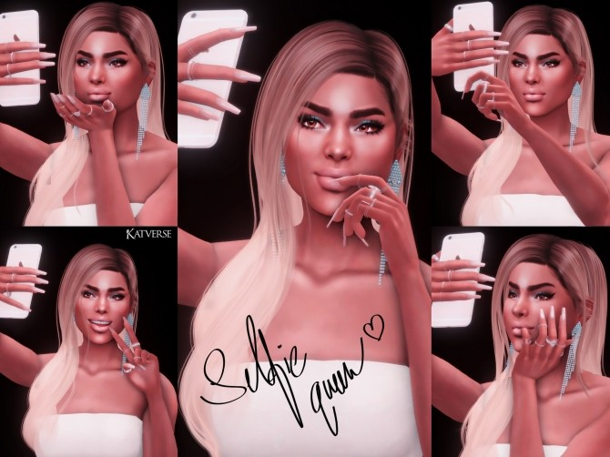 Selfie Queen Pose Pack at Katverse image 12311 670x502 Sims 4 Updates