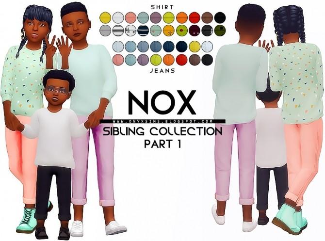 Sims 4 Nox Sibling Set at Onyx Sims