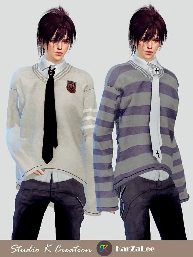V neck sweater at Studio K Creation image 1248 670x893 Sims 4 Updates