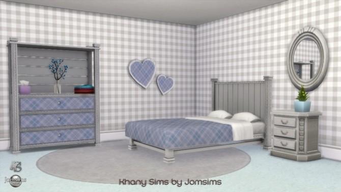 Sims 4 RiKiKi bedroom by Jomsims at Khany Sims