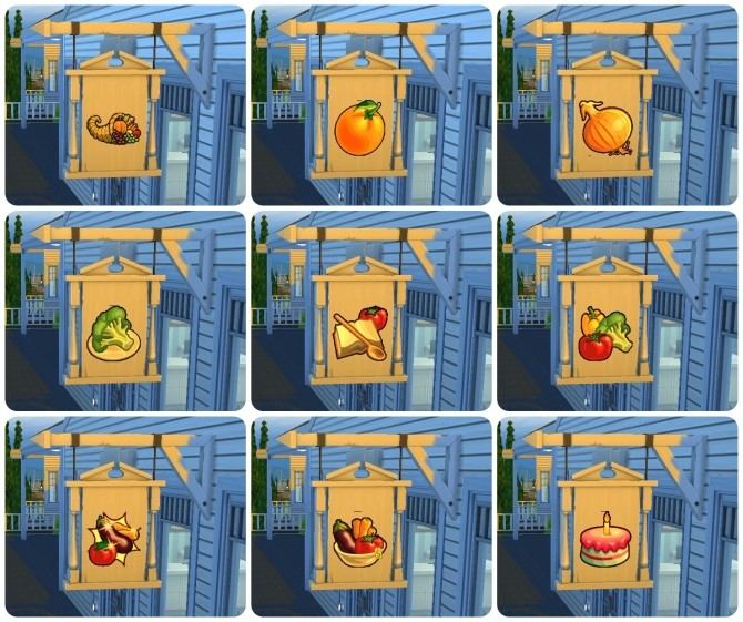 Sims 4 Wall sign and board sign stickers by Victor tor at Mod The Sims