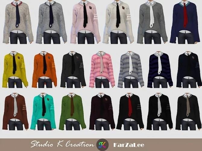 V neck sweater at Studio K Creation image 1258 670x502 Sims 4 Updates