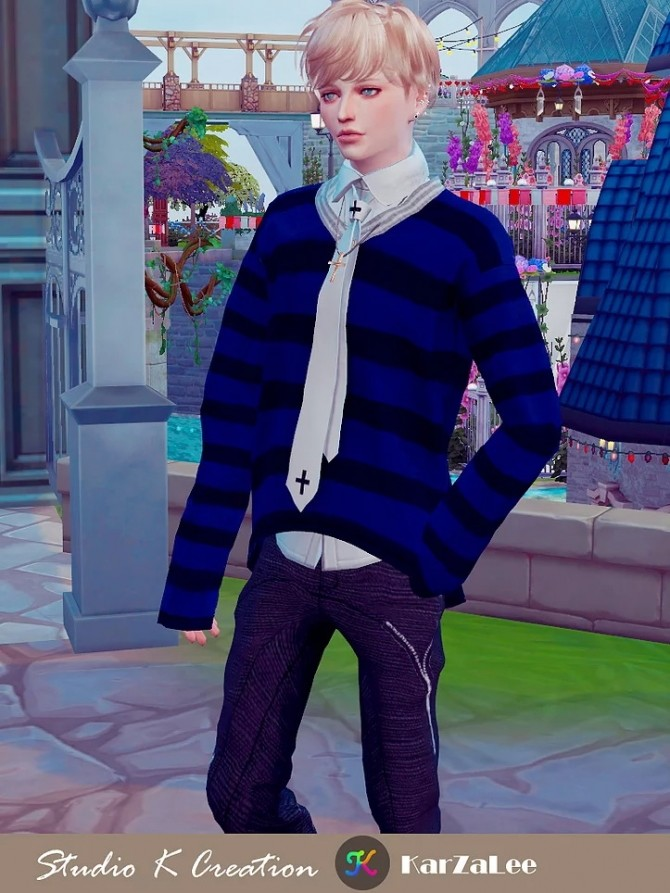 V neck sweater at Studio K Creation image 1268 670x893 Sims 4 Updates