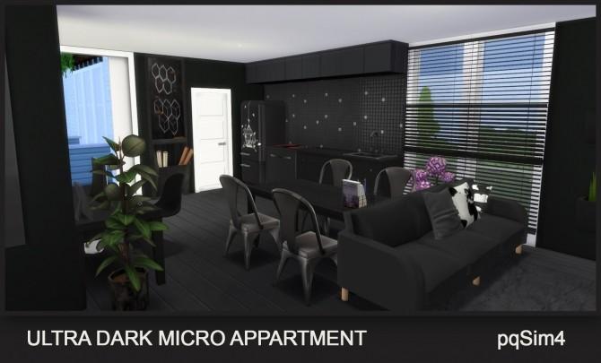 Sims 4 Ultra Dark Micro Apartment at pqSims4