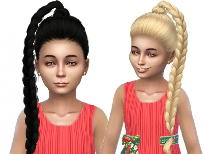 Sims 4 TsminhSims hair 61Kris converted for child at Trudie55