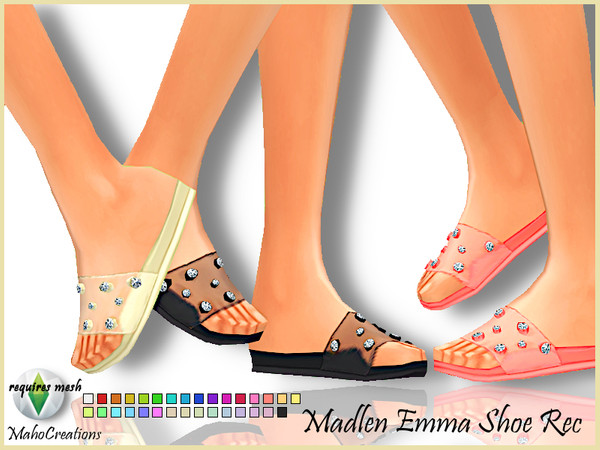 Sims 4 Madlen Emma Shoes Recolor by MahoCreations at TSR
