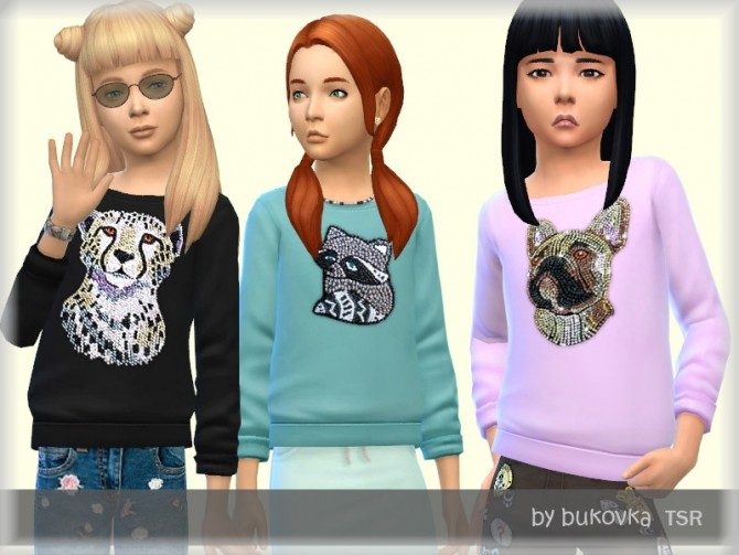 Sims 4 Sequin Sweater by bukovka at TSR