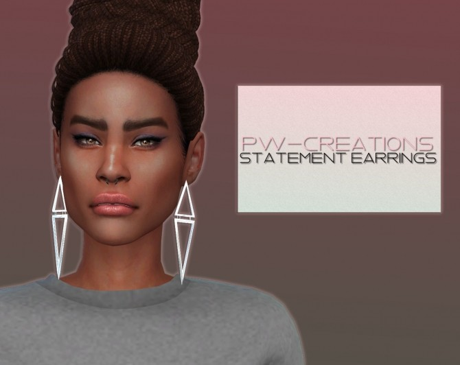 Statement Earrings at PW's Creations image 1347 670x532 Sims 4 Updates