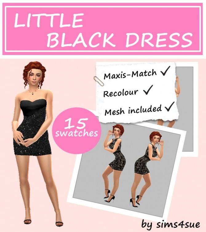 Sims 4 LITTLE BLACK DRESS at Sims4Sue