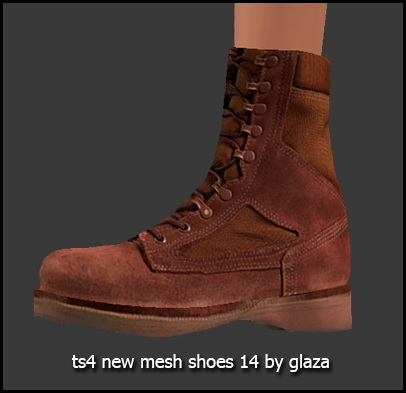 Boots 14 (P) at All by Glaza image 1376 Sims 4 Updates