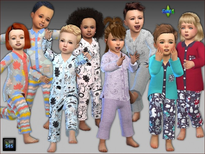 Sleepwear for toddlers by Mabra at Arte Della Vita image 1391 670x503 Sims 4 Updates
