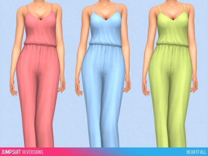 Sims 4 Dresses, jumpsuit and swimsuit recolors at Heartfall