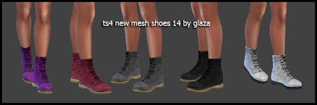 Boots 14 (P) at All by Glaza image 1397 Sims 4 Updates