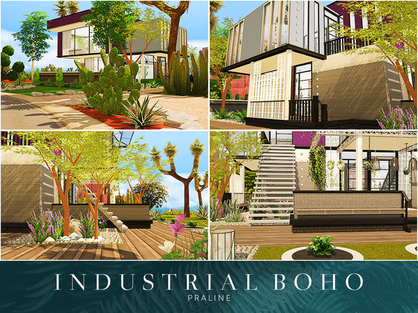 Industrial Boho house by Pralinesims at TSR image 1410 Sims 4 Updates