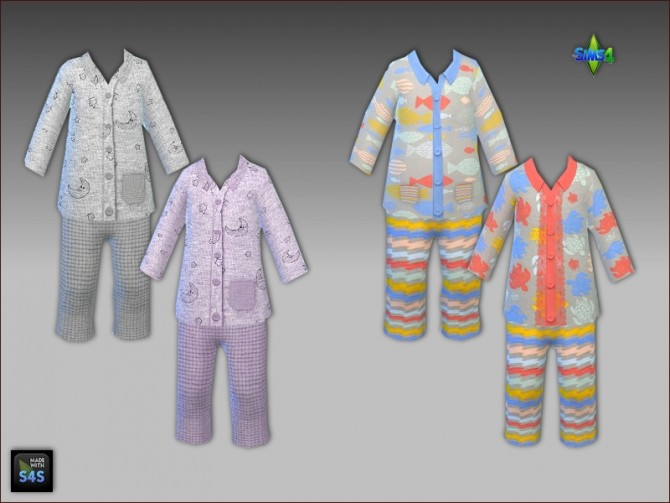 Sleepwear for toddlers by Mabra at Arte Della Vita image 1431 670x503 Sims 4 Updates