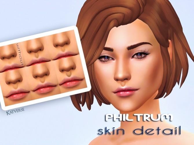 Philtrum Skin Detail at Katverse image 1434 670x503 Sims 4 Updates
