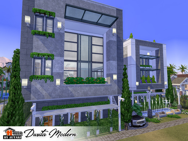 Dusita Modern house by autaki at TSR image 1449 Sims 4 Updates