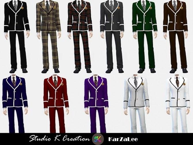Sims 4 Blazer Tie uniform set M/F at Studio K Creation