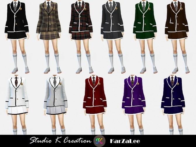 Blazer Tie uniform set M/F at Studio K Creation image 14710 670x502 Sims 4 Updates