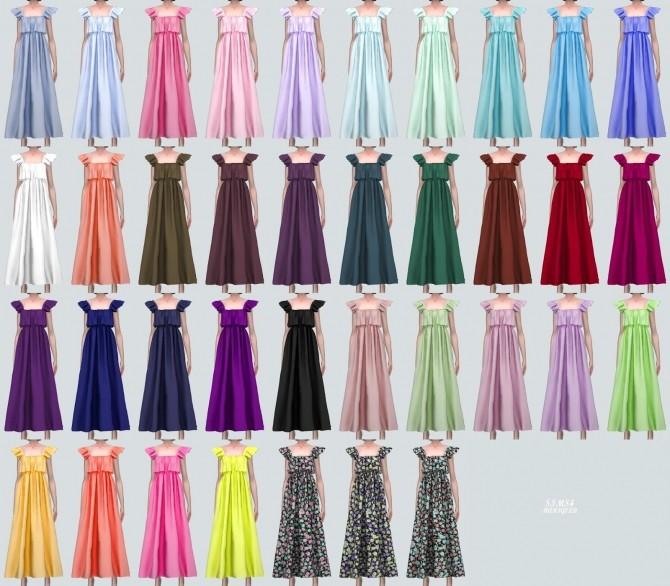 Sims 4 Cute Tiered Long Dress (P) at Marigold