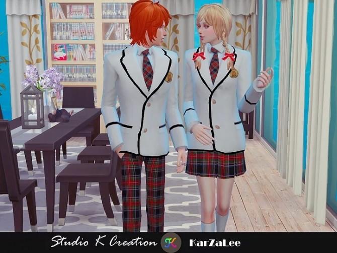 Blazer Tie uniform set M/F at Studio K Creation image 14810 670x502 Sims 4 Updates