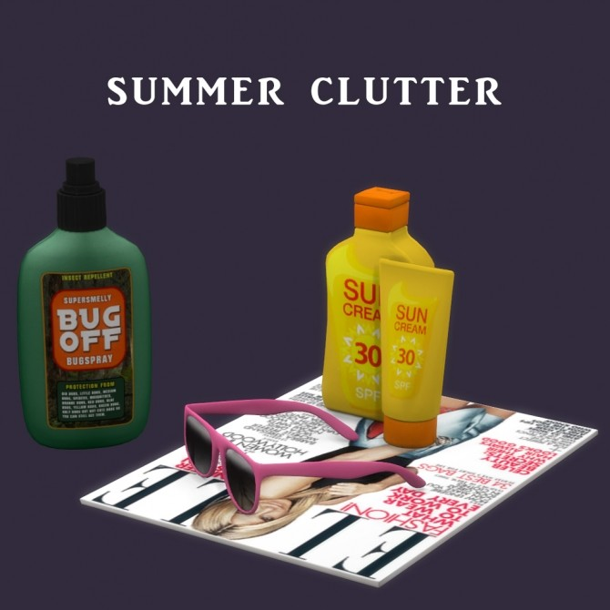 Sims 4 Summer Clutter at Leo Sims