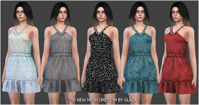 Sims 4 Dress 94 at All by Glaza