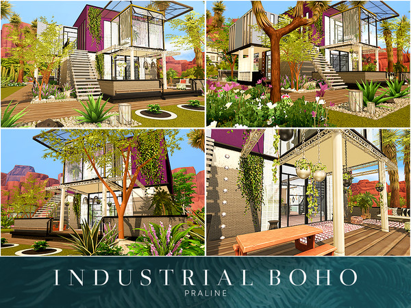 Industrial Boho house by Pralinesims at TSR image 1510 Sims 4 Updates