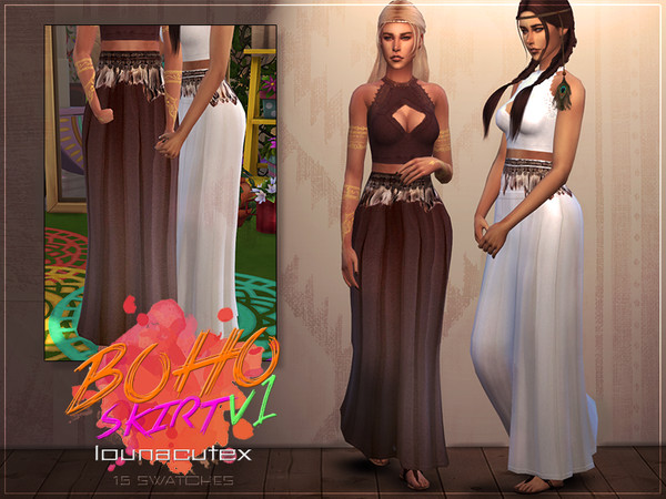 Boho Skirt V1 by L0UNA at TSR image 1526 Sims 4 Updates