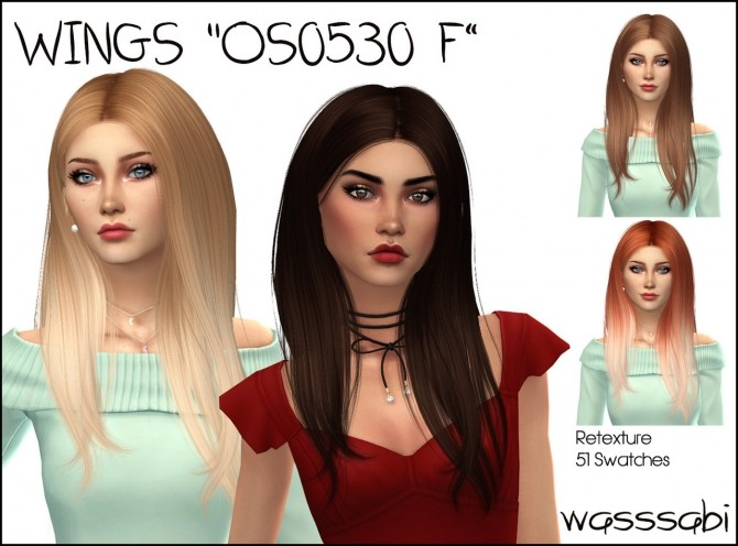 Wingssims OS0530 F hair retexture at Wasssabi Sims image 1545 670x496 Sims 4 Updates