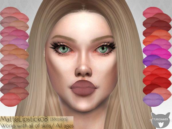 Sims 4 Matte Lipstick 08 by turksimmer at TSR