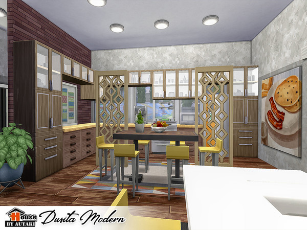 Dusita Modern house by autaki at TSR image 1550 Sims 4 Updates
