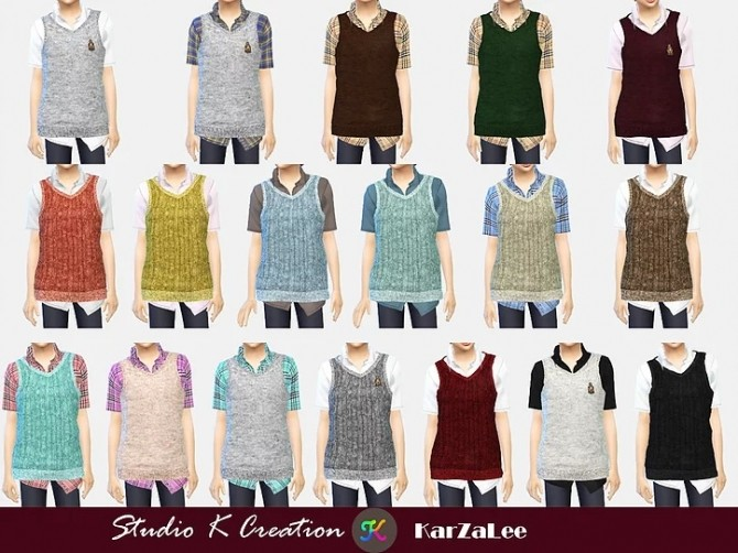 Knitted Vest Shirt for child at Studio K Creation image 1579 670x502 Sims 4 Updates
