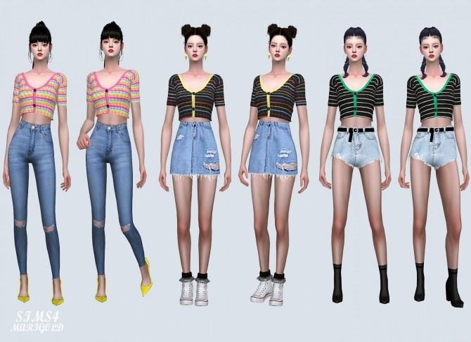 Sims 4 MG Crop Cardigan at Marigold