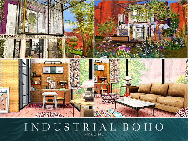Industrial Boho house by Pralinesims at TSR image 1610 Sims 4 Updates