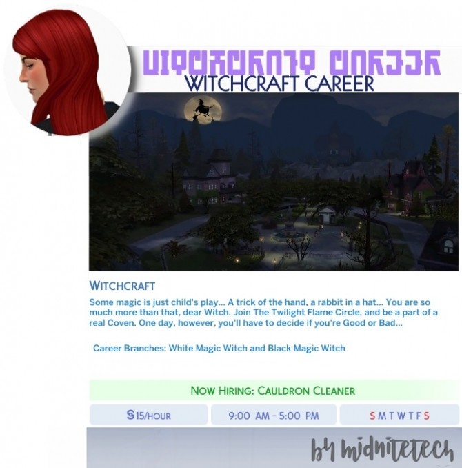 Sims 4 WITCHCRAFT CAREER at MIDNITETECH'S SIMBLR